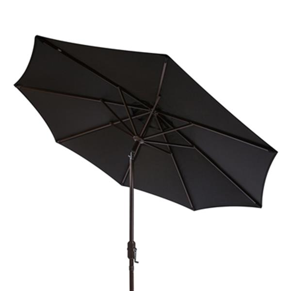 Safavieh Ortega 9-ft Black Market Auto Tilt Patio Umbrella