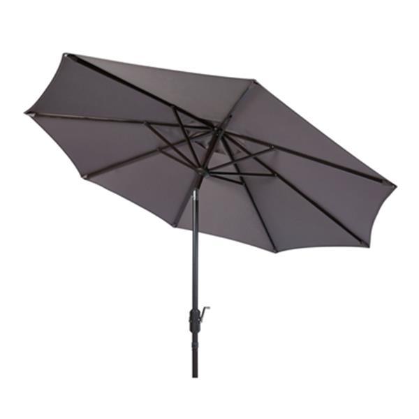 Safavieh Ortega 9-ft Grey Market Umbrella with Auto Tilt