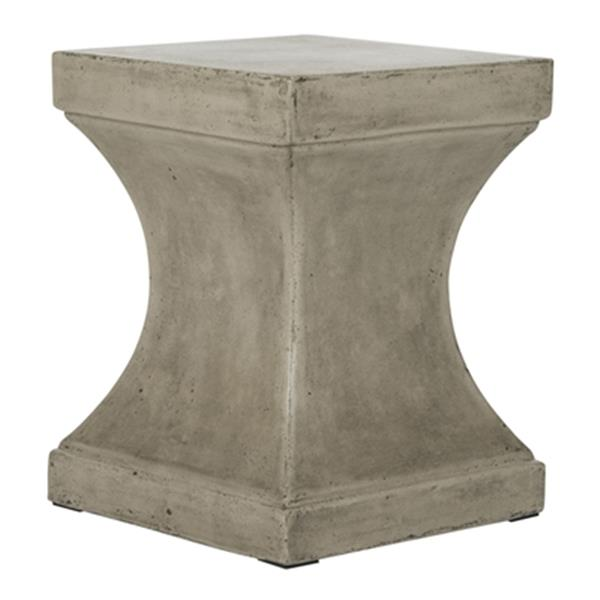Safavieh Curby 17.70-in Dark Grey Concrete Outdoor Accent Table