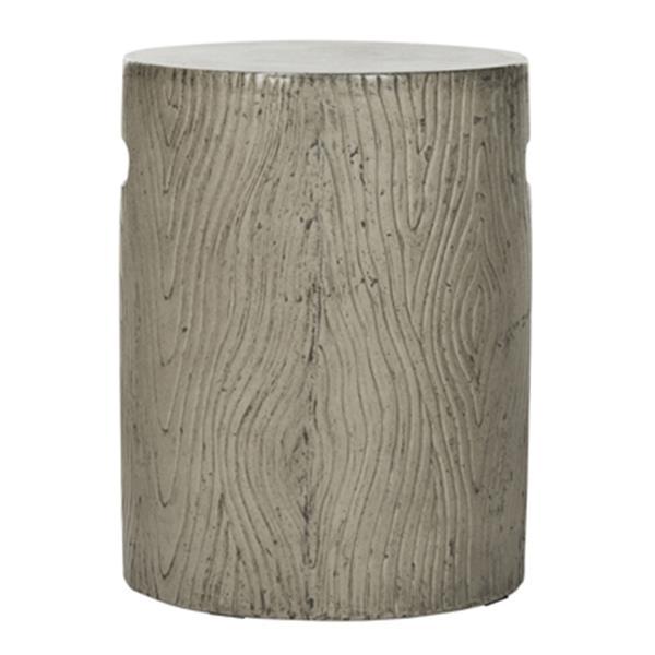 Safavieh Trunk 16.50-in Dark Grey Concrete Outdoor Accent Table