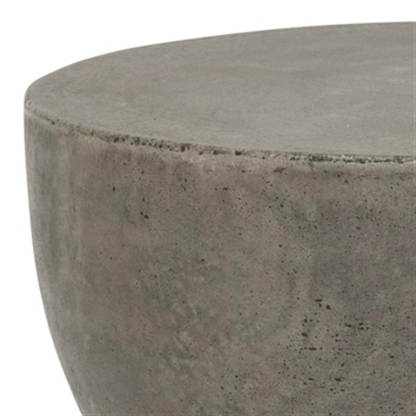 Safavieh Haruki 17.7-in Dark Grey Concrete Outdoor Accent Table