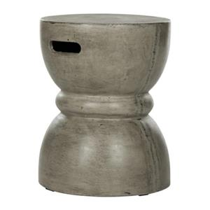 Safavieh Haruki 17.7-in Dark Grey Concrete Outdoor Accent Table
