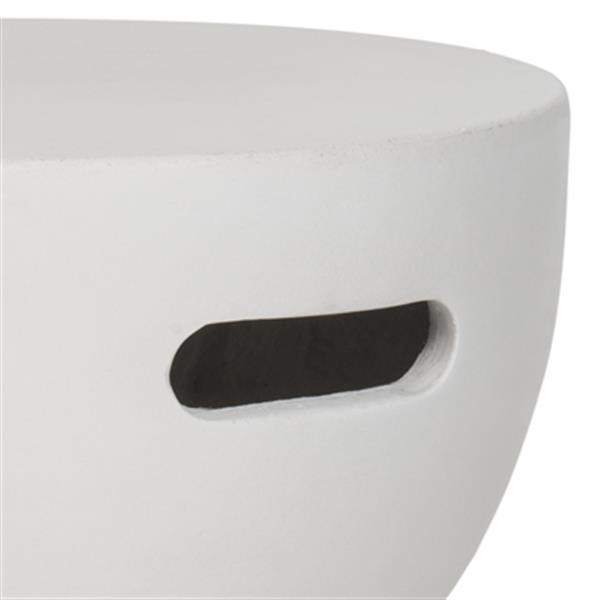 Safavieh Haruki 17.7-in Grey/Off-White Concrete Outdoor Accent Table