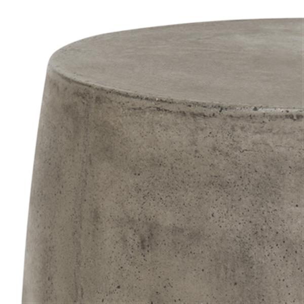 Safavieh Vesta 17.7-in Grey/Off-White Concrete Outdoor Accent Table
