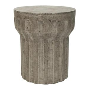 Safavieh Vesta 17.7-in Dark Grey Concrete Outdoor Accent Table