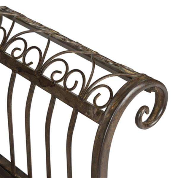 Safavieh Brielle 25.5-in x 52-in Rustic Brown Outdoor Bench