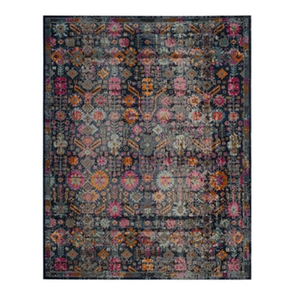 Safavieh Artisan 5-ft x 8-ft Overdyed Blue Multicolor Area Rug