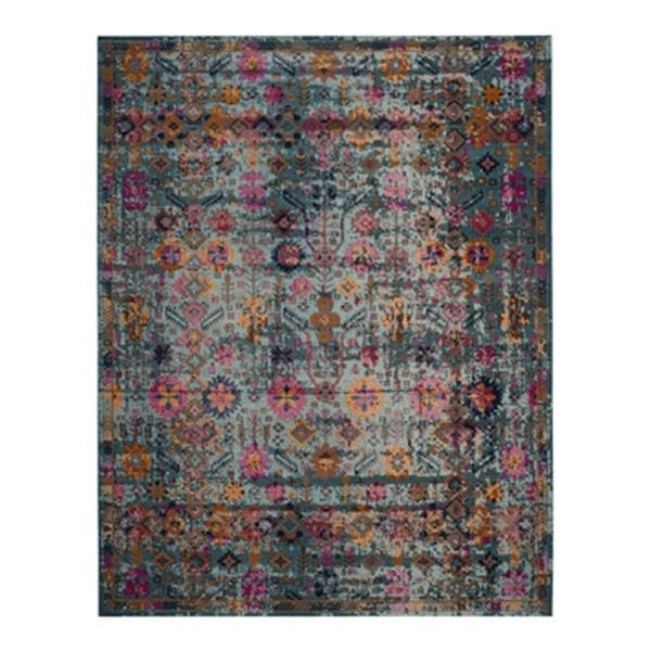 Safavieh Artisan 5-ft x 8-ft Overdyed Light Blue Multicolor Area Rug
