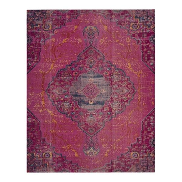 Safavieh Artisan 5-ft x 8-ft Overdyed Fuchsia Multicolor Area Rug