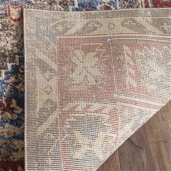 Safavieh Bijar 5-ft x 8-ft Border Brown and Royal Area Rug
