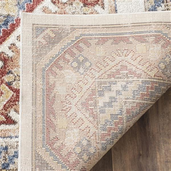 Safavieh Bijar 5-ft x 8-ft Border Ivory and Rust Area Rug
