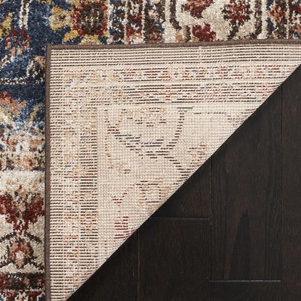 Safavieh Bijar 5-ft x 8-ft Border Royal and Ivory Area Rug