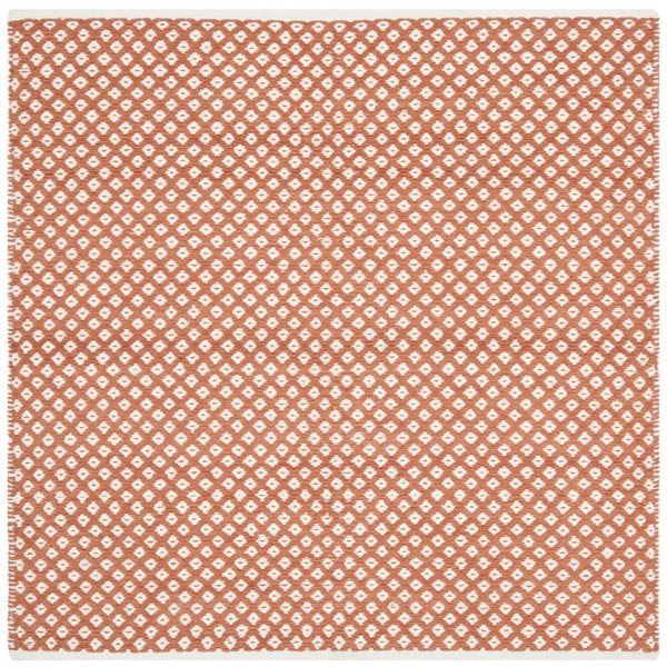 Safavieh Boston 6-ft x 6-ft Geometric Cotton Orange Area Rug