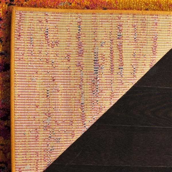 Safavieh Monaco 5-ft x 8-ft Abstract Orange Multicolor Area Rug