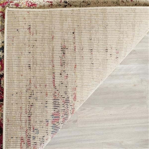 Safavieh Monaco 5-ft x 8-ft Abstract Ivory and Pink Area Rug