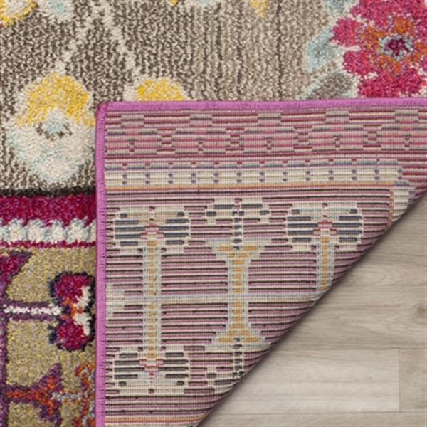 Safavieh Monaco 5-ft x 8-ft Floral Pink Multicolor Area Rug