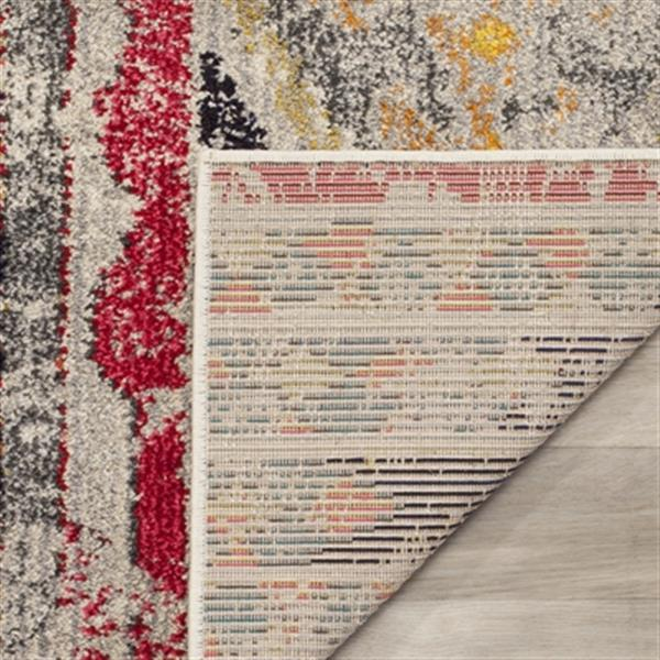 Safavieh Monaco 5-ft x 8-ft Southwestern Light Grey Multicolor Area Rug