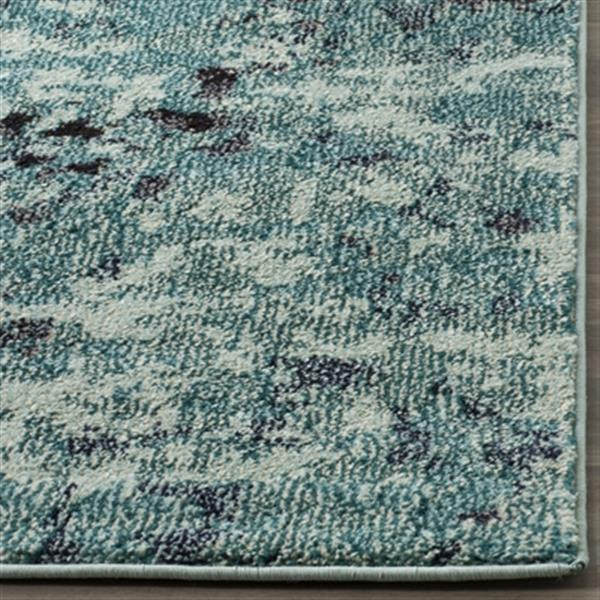 Safavieh Monaco 5-ft x 8-ft Abstract Light Blue Multicolor Area Rug