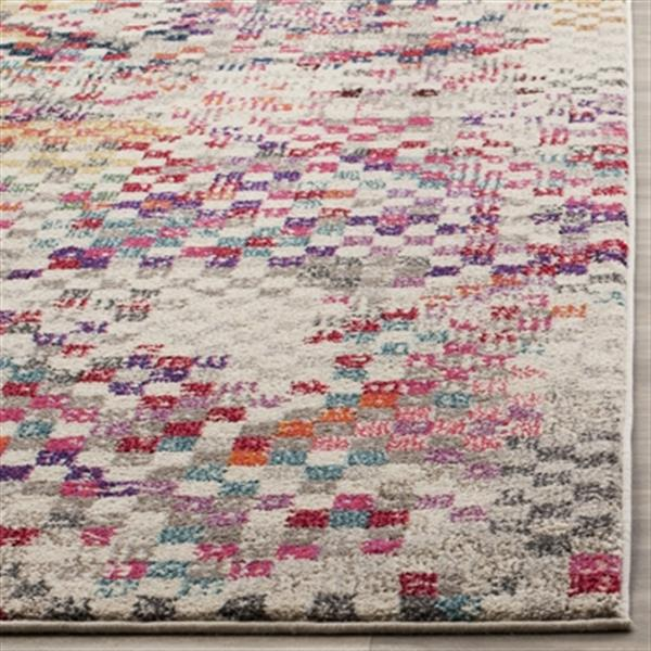 Safavieh Monaco 5-ft x 8-ft Geometric Grey Multicolor Area Rug