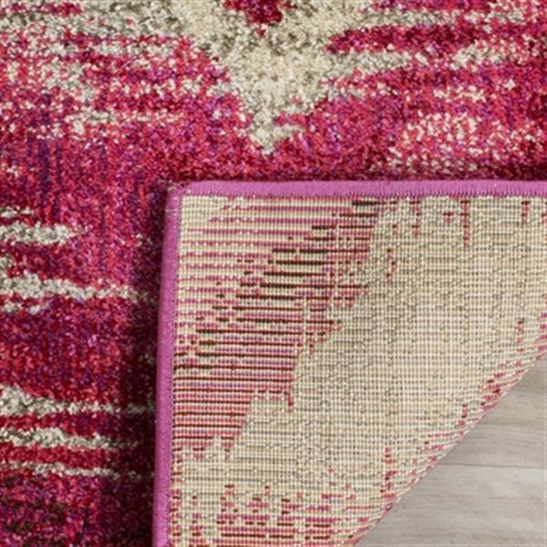 Safavieh Monaco 5-ft x 8-ft Geometric Fuchsia and Cream Area Rug