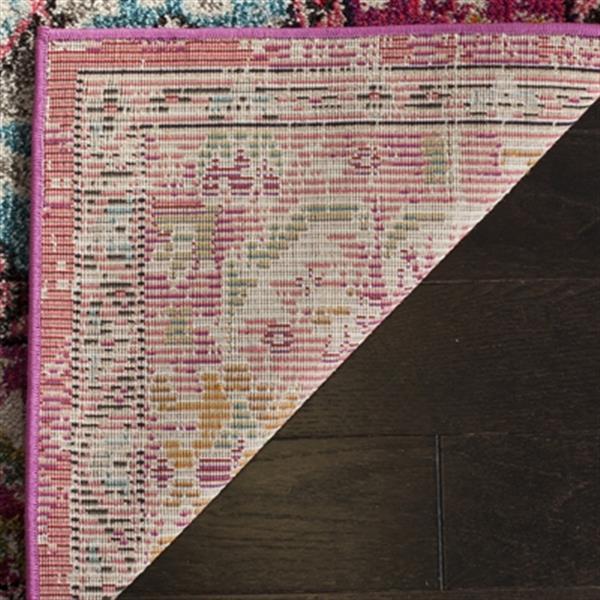 Safavieh Monaco 5-ft x 8-ft Pink Multicolor Border Area Rug