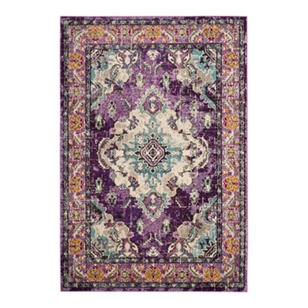 Safavieh Monaco 5-ft x 8-ft Purple Rectangular Violet and Light Blue Area Rug