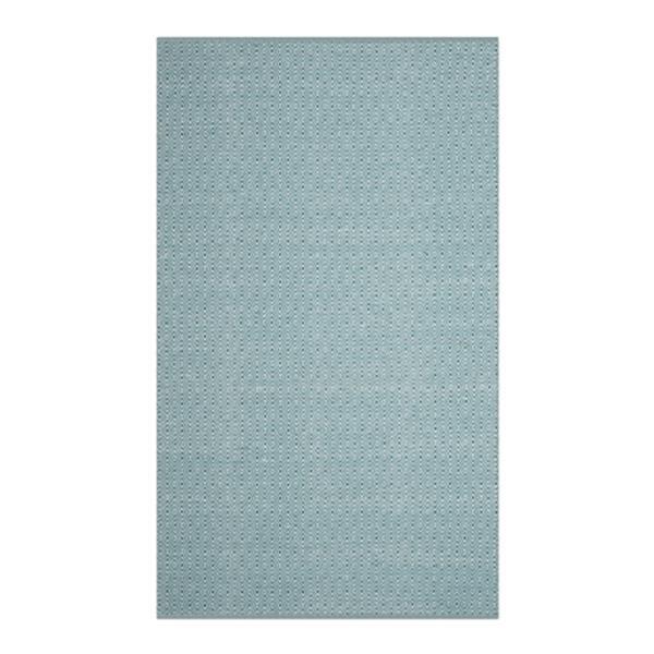Safavieh Montauk 6-ft x 9-ft Blue Rectangular Flat Weave Ivory and Turquoise Area Rug