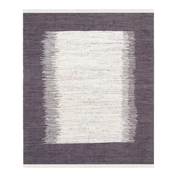 Safavieh Montauk 6-ft x 9-ft Purple Rectangular Flat Weave Ivory and Purple Area Rug