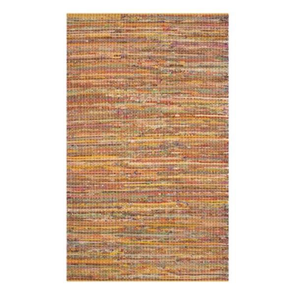 Safavieh Nantucket 5-ft x 8-ft Yellow Rectangular Hand-Tufted Yellow Area Rug