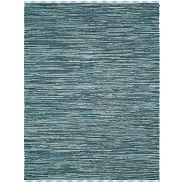 Safavieh Rag Rug 6-ft x 9-ft Blue Rectangular Cotton Turquoise Multicolor Indoor Woven Area Rug