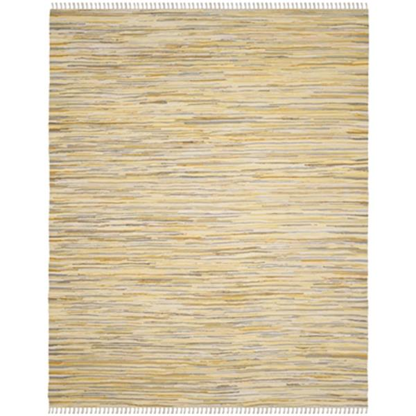 Safavieh Rag Rug 6-ft x 9-ft Yellow Rectangular Cotton Gold Multicolor Indoor Area Rug