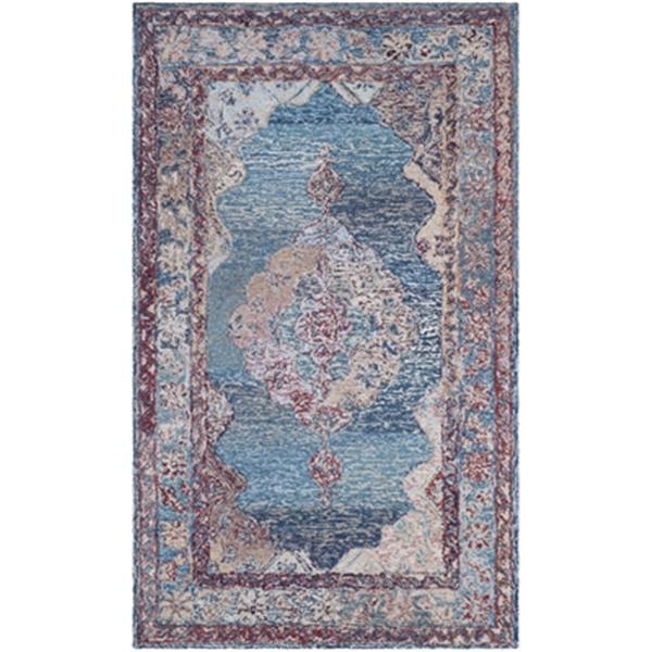 Safavieh Vintage Oushak 6-ft x 4-ft Blue Hand-Tufted Area Rug