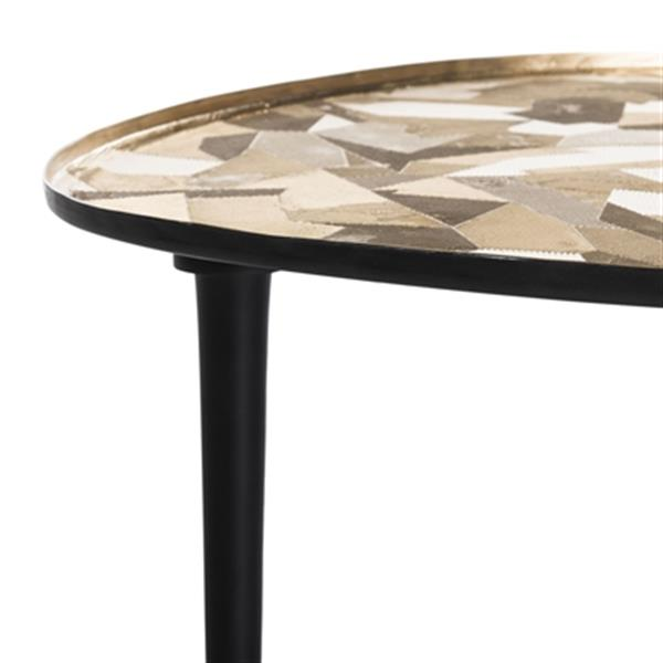 Safavieh Hera 16-in Gold Metal Oval Side Table
