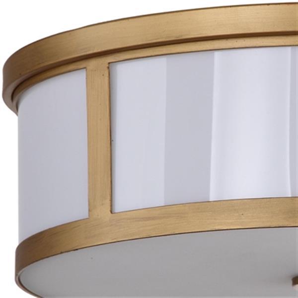 Safavieh Avery 17-in Antique Gold 2-Light Flush Mount Ceiling Light
