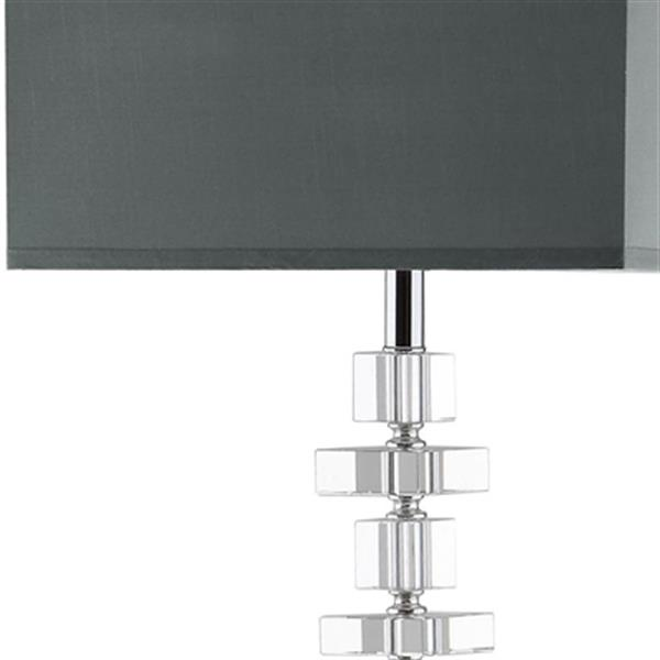 Safavieh 60.5-in Clear Chrome Times Square Floor Lamp