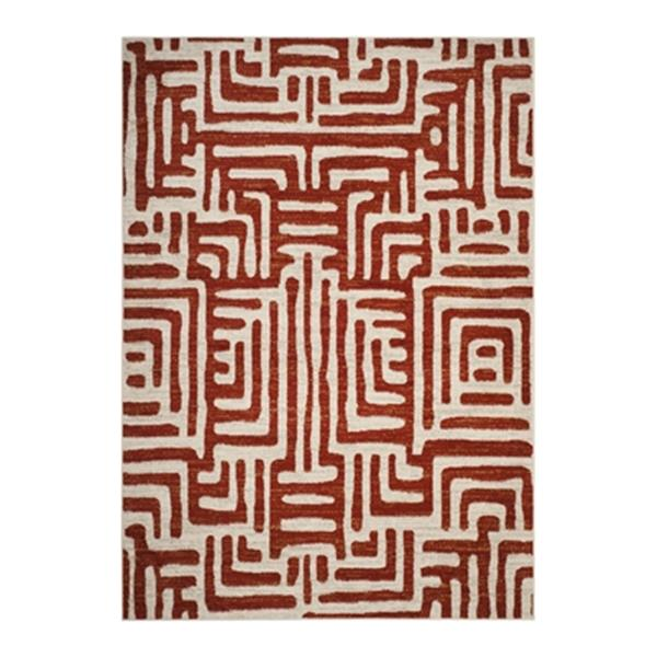 Safavieh Amsterdam 9.16-ft x 6.58-ft Ivory and Terracotta Indoor Area Rug