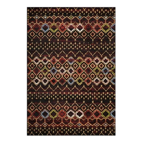 Safavieh Amsterdam 9.16-ft x 6.58-ft Black and Multicolour Indoor Area Rug