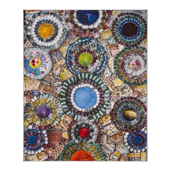 Safavieh Aztec 9-ft x 6.58-ft Blue and Multicolour Indoor Area Rug