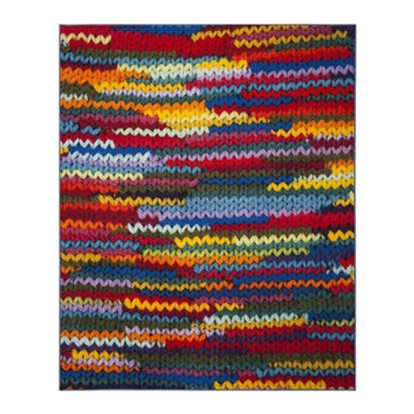 Safavieh Aztec 9-ft x 6.58-ft Coral and Multicolour Indoor Area Rug