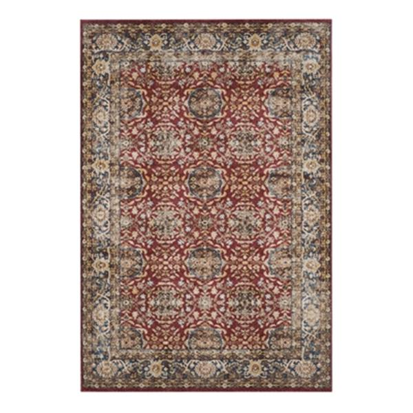 Safavieh Bijar 7.5-ft x 5.25-ft Red and Royal Indoor Area Rug