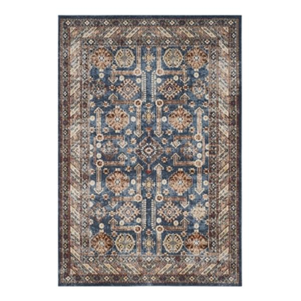 Safavieh Bijar 7.5-ft x 5.25-ft Royal and Ivory Indoor Area Rug