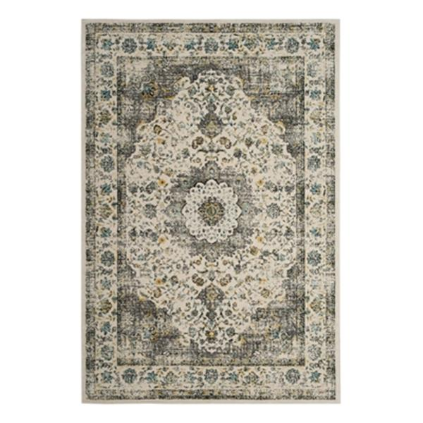 Safavieh Evoke 6.58-ft x 11.83-ft Grey and Gold Indoor Area Rug