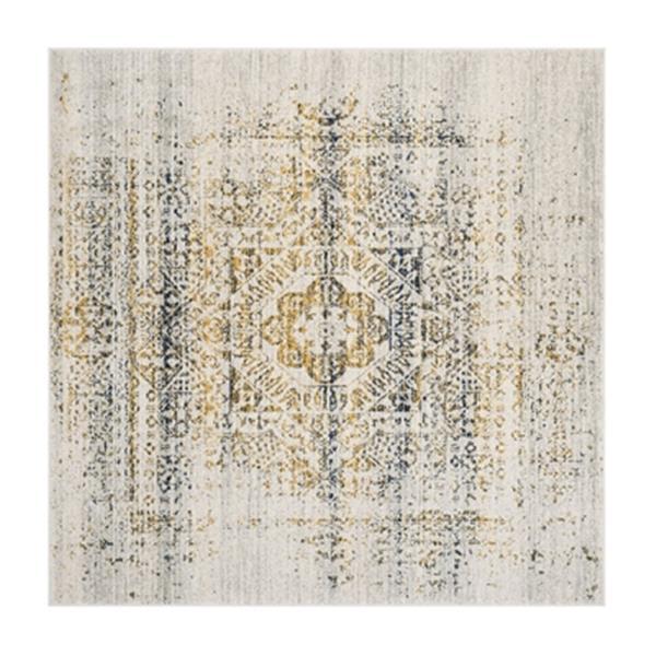 Safavieh Evoke 6.58-ft x 12.41-ft Ivory and Blue Indoor Area Rug
