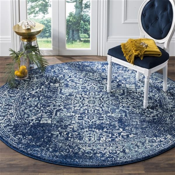 Safavieh Evoke 6.58-ft Navy and Ivory Indoor Area Rug