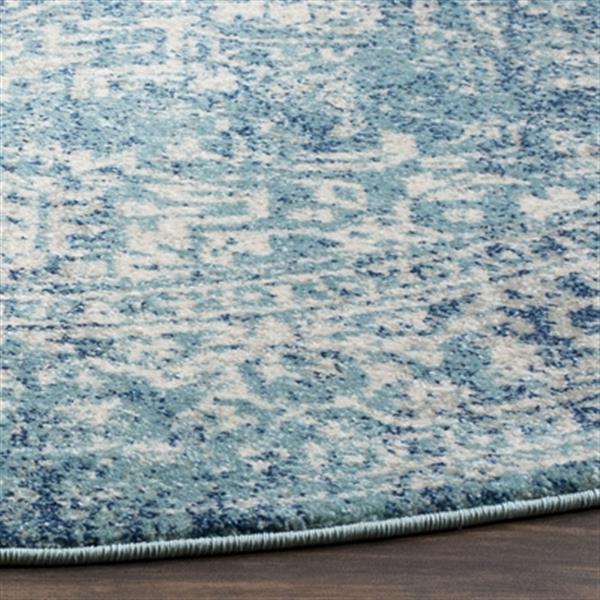 Safavieh Evoke 6.58-ft Blue and Ivory Indoor Area Rug