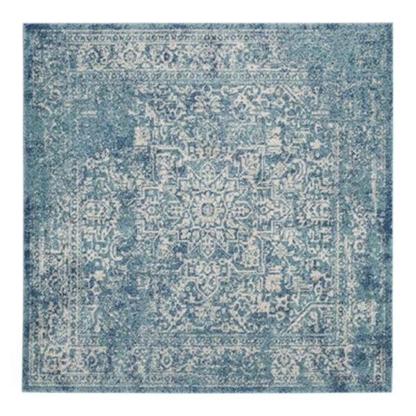 Safavieh Evoke 21-ft x 2.16-ft Blue and Ivory Indoor Area Rug