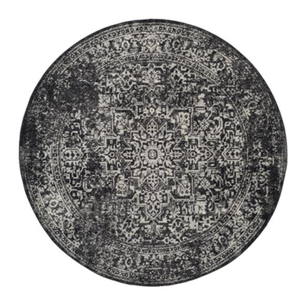 Safavieh Evoke 6.58-ft Black and Grey Indoor Area Rug