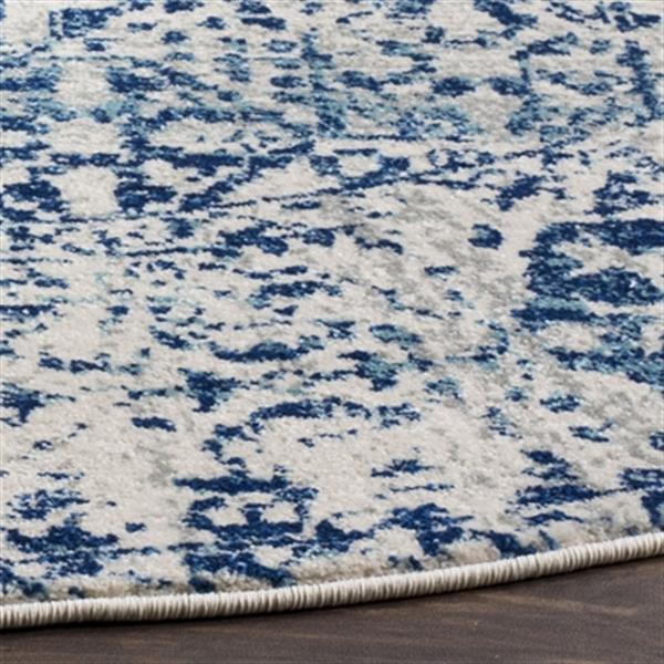 Safavieh Evoke 6.58-ft Ivory and Blue Indoor Area Rug