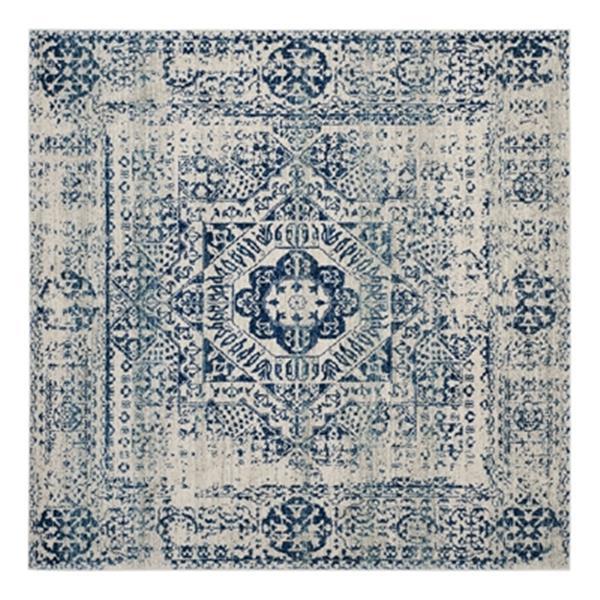 Safavieh Evoke 6.58-ft x 12.91-ft Ivory and Blue Indoor Area Rug