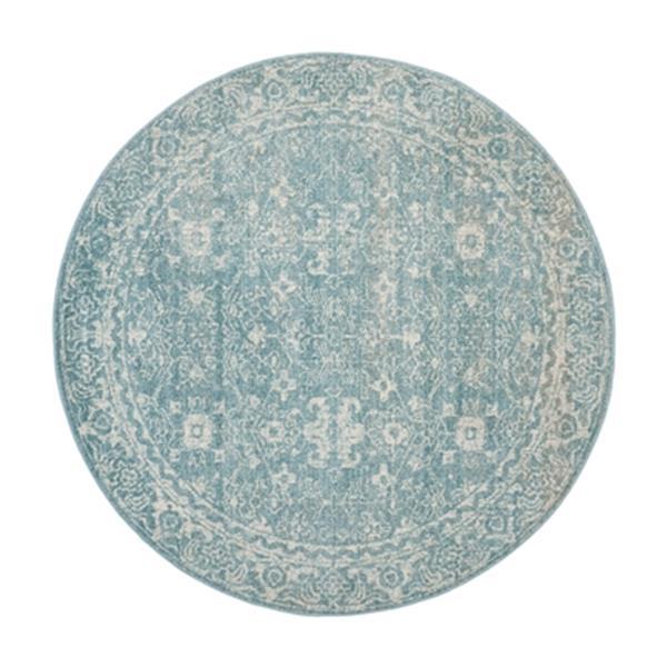 Safavieh Evoke 6.58-ft Light Blue and Ivory Indoor Area Rug